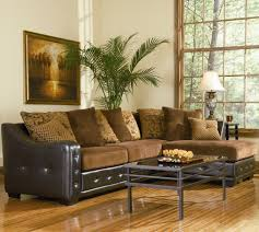 Leather Like Sofa Union Contemporary Chenille Sectional With Leather Like Base