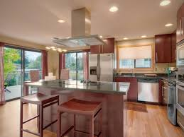 kitchen island with stove cabinets around refrigerator surripui net