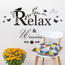 black butterfly bird flower vine relax quotes wall sticker kids black butterfly bird flower vine relax quotes wall sticker kids room bedroom home decor 3d vinyl posters removeable wall decal in wall stickers from home