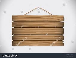 wooden board old style hanging nail stock vector 416420275