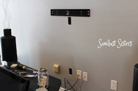 wall mounted tv hiding cables how to mount a flat screen tv and hide cords inside the wall