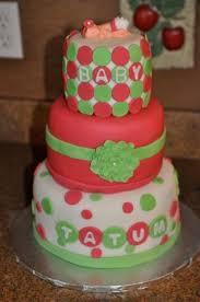 pink u0026 green baby shower cake cakecentral com