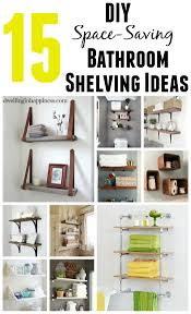 Ideas For Bathroom Shelves 15 Diy Space Saving Bathroom Shelving Ideas