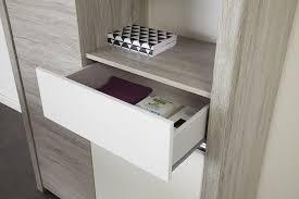 Esszimmer Holz Grau Esszimmer Mit Tisch 155 X 101 Cm Portofino Grey Weiss Hochglanz