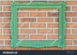green wooden picture paint frame on stock photo 647997670