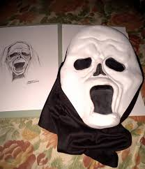 ghost face painting for halloween original u0027scream u0027 ghostface mask concepts were way different