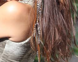 feather hair extensions diy hair jewelry feather hair extension kit brown grizzly