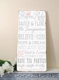 princess wall typography word wall decor on wood