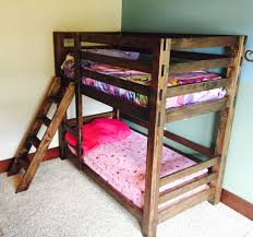 Diy Bunk Beds With Stairs White Classic Bunk Beds Diy Projects