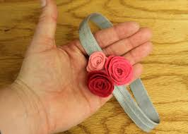how to make baby flower headbands diy felt flower headband and hair clip