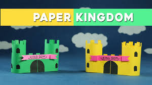 easy paper crafts for kids paper castle kingdom youtube