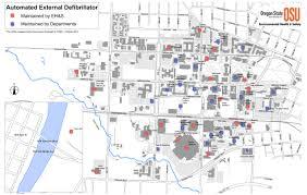 Oregon Campus Map by Life Osu