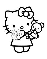 hello kitty toy coloring pages for kids printable free coloing