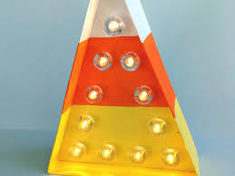Halloween Candy Craft Ideas by How To Make A Halloween Candy Corn Marquee Light Diy