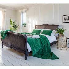 plushious velvet emerald green cushion bedrooms french bed and
