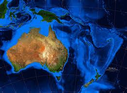 australia satellite map australia oceania satellite image giclee print topography