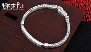 silver bracelet hand images Thailand import hand chain beier 925 sterling silver bracelet pure jpg