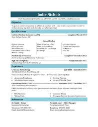 Phlebotomist Job Description Resume by 16 Free Medical Assistant Resume Templates