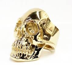 gold skull rings images 10k solid gold full anatomical skull ring jpg