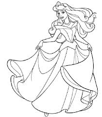sleeping beauty coloring free girls cute pages