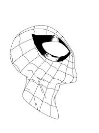 spider man face sketch inked by roach97 on deviantart