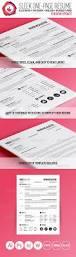 Indesign Resume Ideas Sleek One Page Resume Illustrators Typography And Creative
