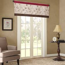 amazon com madison park serene window valance red 50x18 home