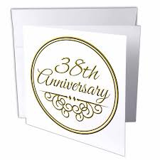 38th wedding anniversary 3drose 38th anniversary gift gold text for celebrating wedding