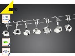Wohnzimmer Beleuchtung Seilsystem Trio 7 5m Led Deckenleuchte Schienensystem Seilsystem Lampe Büro