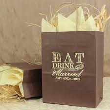 personalized gift bags 8 x 10 eat drink and be married personalized gift bags set of 25
