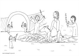 marvelous jesus on donkey palm sunday coloring page with palm