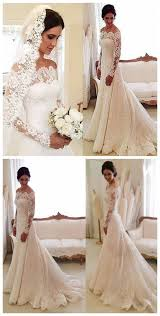 the shoulder wedding dress white the shoulder lace sleeve bridal gowns cheap simple