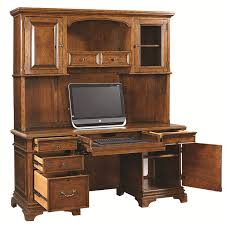 74 inch credenza desk and hutch with 3 adjustable shelves and 5