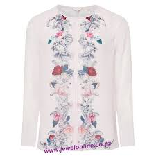 light pink top women s boutique retail phase eight multi tops women s print blue sadie