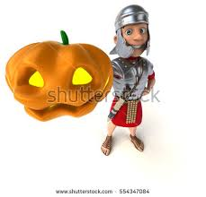 Roman Soldier Halloween Costume 3d Render Boy Wearing Halloween Pirate Stock Illustration