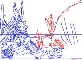 pics of ocean scene underwater drawings an underwater scene