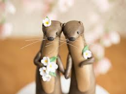 otter cake topper river otter wedding cake topper by bonjour poupette