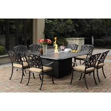 Aluminum Dining Room Chairs Darlee Ocean View Cast Aluminum Dining Set With Sesame Seat
