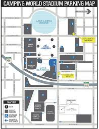 Street Map Orlando Fl by The Autonation Cure Bowl Parking The Autonation Cure Bowl