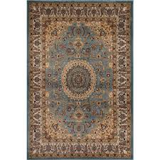 Traditional Design by World Rug Gallery Traditional Oriental Medallion Design Blue 5 Ft