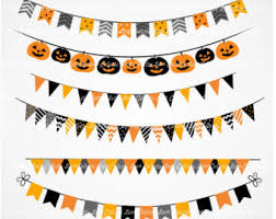 halloween clipart garland pencil and in color halloween clipart