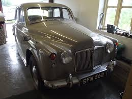 a 1958 rover p4 60 registration number sfw 562 chassis number
