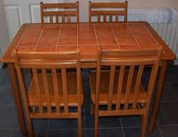 Tile Top Kitchen Dining Room Table Complete With  Chairs Good - Tile top kitchen table and chairs