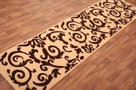 orange contemporary runner rugs for hallway contemporary runner