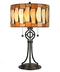 Table Lamps With Rectangular Shades by Lighting Stylish Glass Block Contemporary Table Lamp Design With