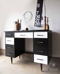 black and white mid century desk and thoughts on styling u2014 martha