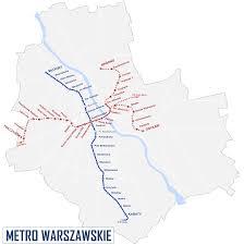 Metro Violet Line Map by Warsaw Metro