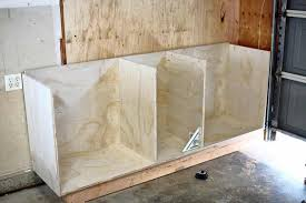 how to build base cabinets out of plywood how to build diy garage cabinets and drawers thediyplan