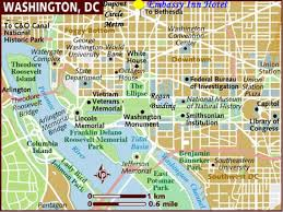 Maps Of Washington Dc by D C U0027s Monumental Locations