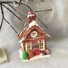 gisela graham small led light up gingerbread house